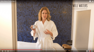 Katie Garces describes Wele Waters soaking experience like getting a professional massage!